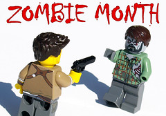 It's Zombie Month! (Saber-Scorpion) Tags: lego minifig minifigures moc brickarms zombies zombie halloween october uncharted nathandrake thelastofus naughtydog joel