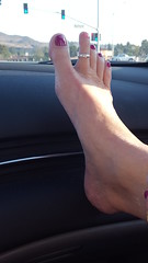 Dashboard Toes (cjacobs53) Tags: jacobs jacobsusa sher sherry long sexy toes ring foot dash dashboard