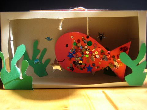 make an aquarium craft