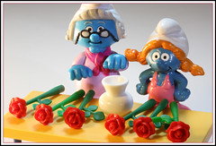 Flower arranging (Rigib) Tags: blue roses canon toy miniature explore figure vase characters 60mm smurfs applause schlumpf pitufo jakks arrange schlmpfe schtroumpf img4996 peyo smurfvillage puffo lens00025 f320 explore18  sassette   365toyproject moulov sanafer ourdailychallenge nannysmurf smurfling