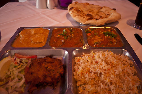 Indian lunch near Kings Cross London