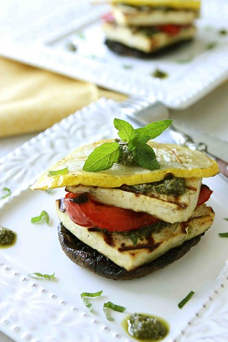 Grilled-Tofu-Stacks-with-Pesto-&-Grilled-Vegetables-Recipe-{ManPans Giveaway}