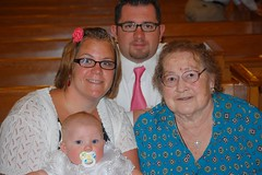 Makayla with Parents and Nana Haldaman