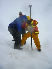 Measuring snow depth with GPS