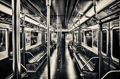 C Train (Ohh Shh Its Jon) Tags: new york city nyc newyorkcity usa white black art brooklyn train canon subway photography photo metro empty c broadway junction mta
