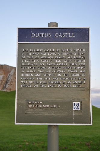 Duffus castle sign