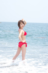 00961 (cosfit) Tags: ocean sea portrait people woman cute sexy beach girl beautiful beauty fashion japan lady asian japanese model asia pretty bikini swimsuit bathingsuit swimwear 20110703nisgp