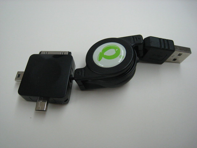 Retractable iPhone, Mini USB, Micro USB Cable