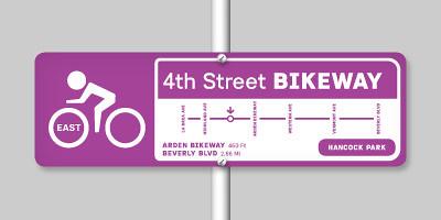 4th Street Bikeway signage