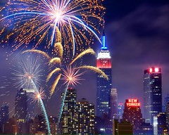 Fireworks (mudpig) Tags: nyc newyorkcity longexposure ny newyork skyline night geotagged newjersey cityscape fireworks smoke newyorker esb fourthofjuly macys empirestatebuilding gothamist independenceday hdr newyorkerhotel nuevayork cidadedenovayork mudpig stevekelley 1penn onepenn      lavilledenewyork stevenkelley