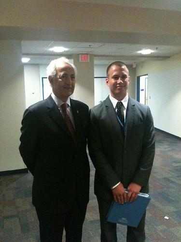 NSLC Student with the Ambassador of Iraq