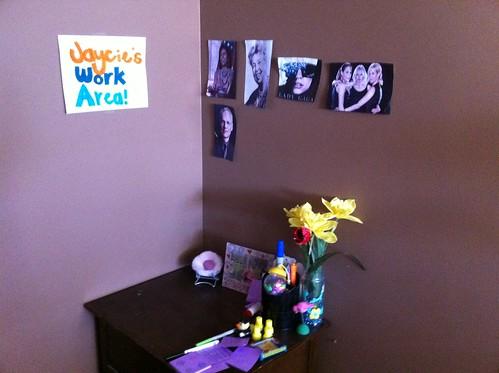 Jaycie's Work Area