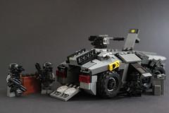 DARKWATER Baal APC 4 (✠Andreas) Tags: lego darkwater apc baa thepurge legomilitary armoredpersonelcarrier legoapc cyberpunkmilitary legoarmoredpersonelcarrier legodarkwater