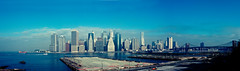 Manhattan skyline (eweliyi) Tags: panorama usa newyork ferry skyline river island manhattan brooklynbridge hudson staten top20flickrskylines 365travelmemories