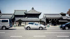 So Far From Your Weapon (Stephan Geyer) Tags: road street new old classic lines car japan contrast 35mm canon silver temple eos japanese kyoto porsche 5d flickrd ef nipon 3514 35l f14l