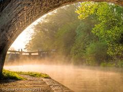 Spinney lock, Grand Union canal. (ceeko) Tags: bridge england mist canal leicestershire lock towpath grandunioncanal 2011 olympusep2