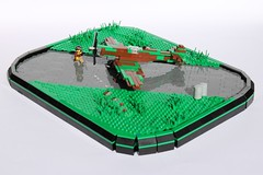 If I was in World War Two they'd call me Spitfire! (peggyjdb) Tags: lego britain ww2 spitfire pilot worldwar2 airfield