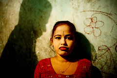Rosina (ActionAid UK) Tags: girls light red portrait people urban woman color colour against girl make up sex youth women faces district photojournalism documentary story prostitution health human rights drugs area drug violence medicine worker addiction development bangladesh abuse ngo brothel welfare campaigning actionaid faridpur