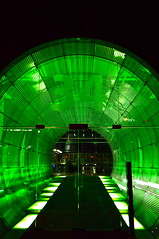 Green Tunnel (Blue Rave) Tags: nightphotography light building berlin green lines architecture night germany deutschland lights vanishingpoint europa europe nightimages angle path angles illumination tunnel illuminated nightshots pathway 2012 thecolorgreen