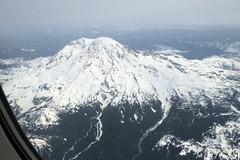Nisqually Rainier (Sotosoroto) Tags: mountain snow volcano washington aerial cascades mtrainier