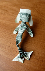 Dollar Origami Mermaid ($ craigfoldsfives) Tags: money origami dollar moneyorigami dollarorigami craigfoldsfives craigsonnenfeld