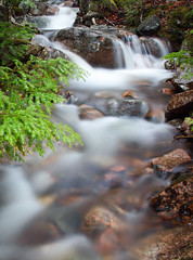 Acadia Waterfall (hessamt) Tags: longexposure nature water landscape spring rocks colorful stream saturation granite brook flowing intimate current acadianationalpark catchycolorsgreen hadlockpond canonef24105mmf4l canoneos5dmarkii samhess