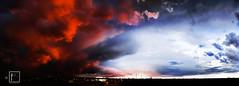 rosso fuoco (federicograziani - Fe.Graz) Tags: sunset panorama nikon tramonto sundown panoramic d90 graziani nikond90 federicograzianifotografo