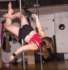 pole-9006 (D Tee) Tags: hair swing pole strength knee hold upside poledance