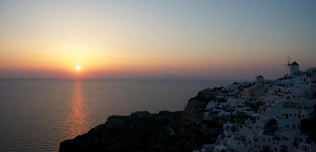 Pôr-do-sol em Óia
