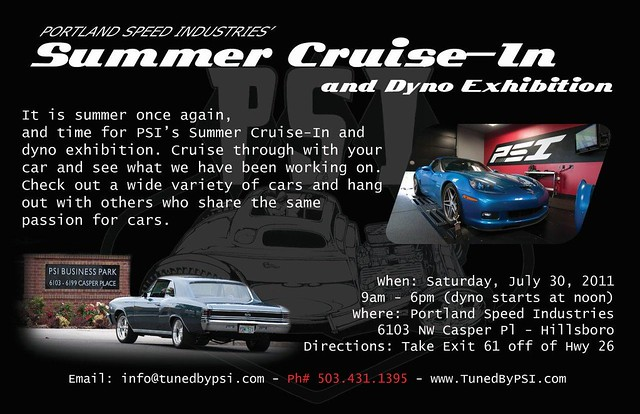 PSI Summer Cruise-In 2011 flyer back