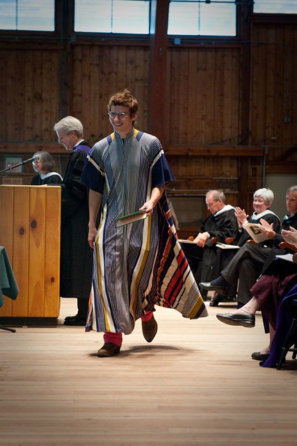 Grad in Interesting gown