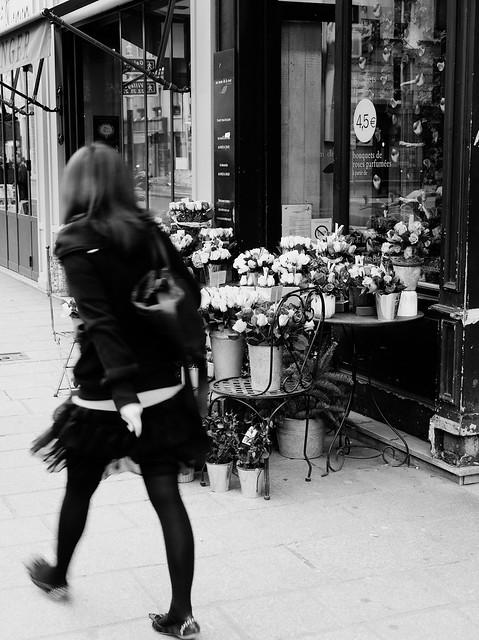 La belle et les roses - Paris Rue St. Antoine