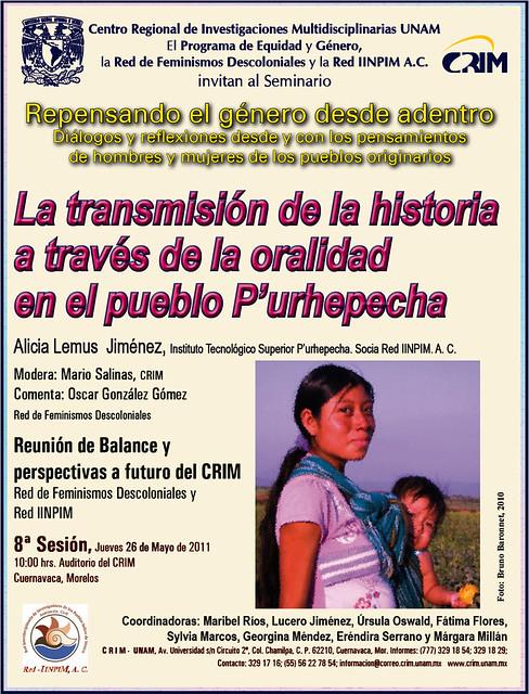CRIM Cartel 8a Sesión de género 2011