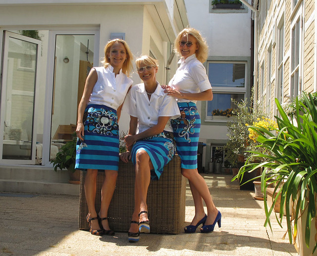 Striped Prada Skirts