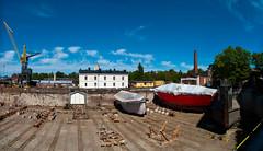 Suomenlinna dry dock (1yen) Tags: travel panorama travelling finland europe panoramic unesco suomenlinna 4exp