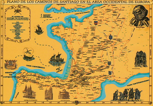 Routes of Santiago de Compostela in France // Routes of Santiago de Compostela in Spain