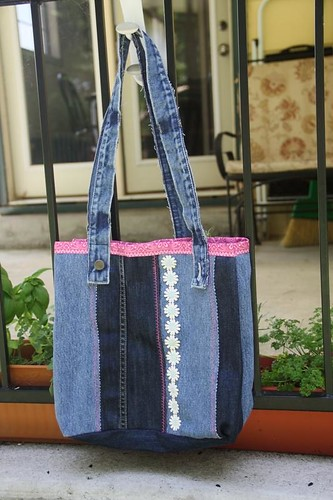 denim tote done