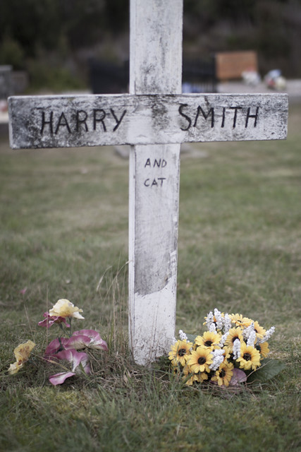 Harry Smith and cat