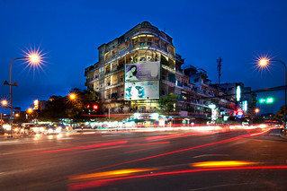 An Old Building at the intersection of Monivong Blvd and St. Kampuchea Krom