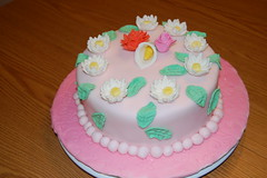 Final Cake gumpaste and fondant class (Rhonlynn) Tags: flower wilton fondant gumpaste cakeclass
