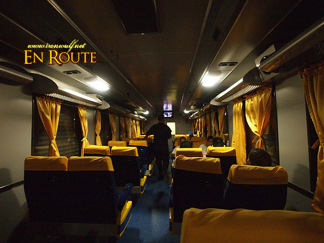 The reclining Seats Coach with entertainment screens