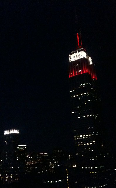 Red and white for Canada day on the Empire State Building for Canada day tomorrow up north