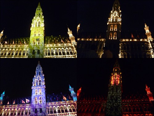 Grand Place Lights for Belgian National Day