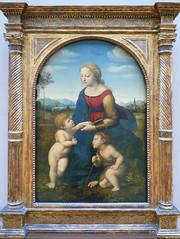 Raphael, La belle jardinière with Frame