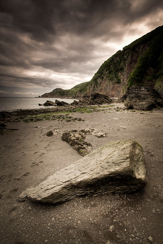 480/1000 - Large Rock on Woody Bay 1 by Mark Carline