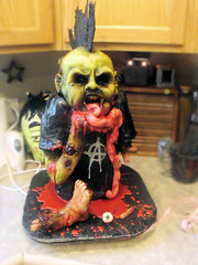punk rock zombie 1 (Cake Rhapsody) Tags: monster cake rock foot death scary blood punk zombie chocolate finger eyeball rocker gore horror mohawk anarchy undead corpse zombies airbrush intestines fondant buttercream edibleart walkingdead royalicing barbaranngarrard cakerhapsody