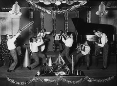 Crystal Palace Orchestra playing in Brisbane about 1929 (State Library of Queensland, Australia) Tags: pianos musicalinstruments statelibraryofqueensland jazzbands