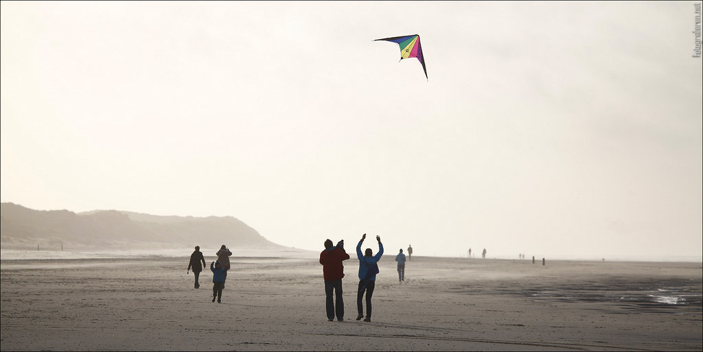 Kites at the beach (Vlieland)