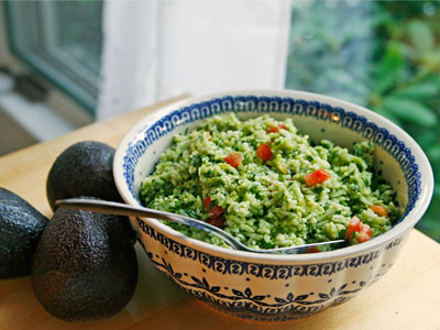 avocado basil rice