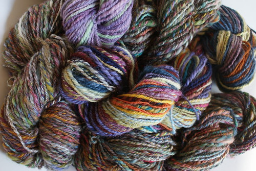 April Pound of Fiber: Yarn School Orphans